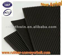Fine ribbed rubber sheet /mat