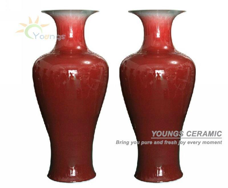 Chin s pintados m o porcelana decorativa enorme vasos - Jarrones grandes modernos ...