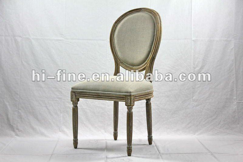 Estilo franc s luis xv silla con tela de lino sillas de - Silla estilo luis xv ...