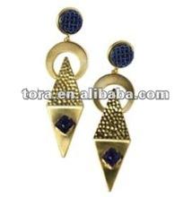 Fashion Antique Gold Triangle Enamel Stud Earring gold earrings 2012 new design Triangle earring studs