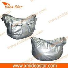 shoulder bag with shining coating PS006