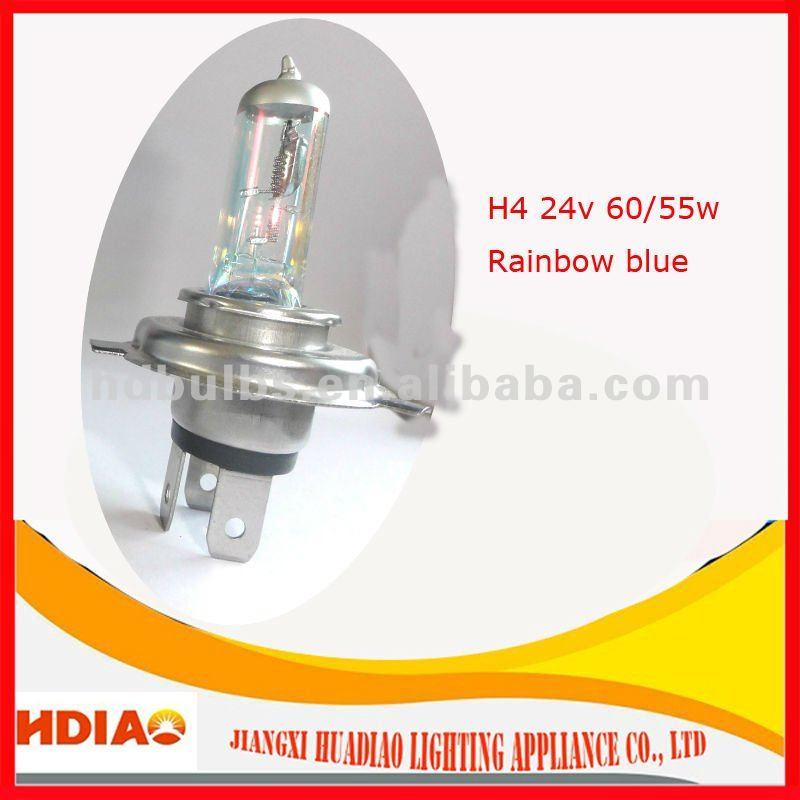 bulb H4 24v 60/55w lamp rainbow blue