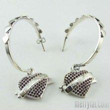 Huggie heart 316L Stainless steel korean design earrings ( ML-12-MA0901-10)