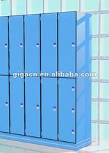 supplying changing room woodgrain 2 tiers laminated hpl locker