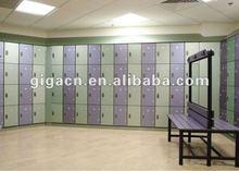 stock changing room plain 4 compartment hpl locker