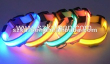 red, yellow, green, blue light up flashing LED pet collar for dog