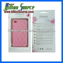 Popular diamond brand case for iphone 4 4S cover accept paypal