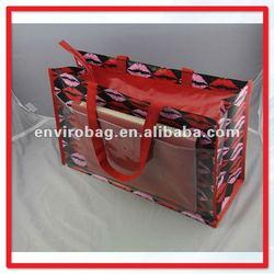 fashion PP woven Cute shop bags