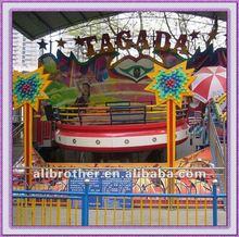 Crazy rotating! Theme park rides turntable disco tagada for sale