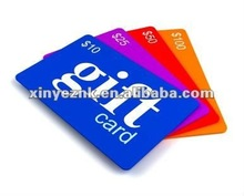 2012 Various Newest Plastic Gift Card