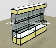 aluminum and glass exhibition stand for product display
