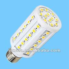 2012 e27/e14 230v 2800k 60 smd 9w led corn light e27