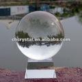 80mm claro de la suerte de color de cristal bola de cristal, bola de cristal trapezoidal con base de cristal