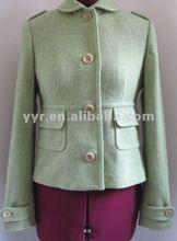 2012 Wool Blend Military Back Pleat Peplum Jacket