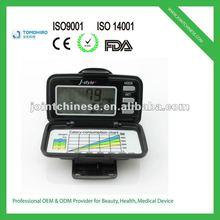 The hot selling 3d g-sensor multi-functional belt clip display cheap pedometer calorie counter equipment
