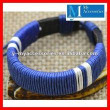 2012 Best Sell Genuine Leather Bracelet Braided Adjustable Leather Wrist