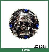 newest design 2012 cute fashion cool alloy skull ring