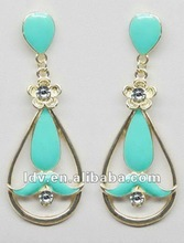 Mustache Earrings With Clear Stones Very Cute 8 Different Colors