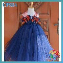 2012 Fashion baby dress Flower girl tutu dress Baby flower girls with match headband set Cute posh pattern