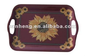 flower design melamine tray