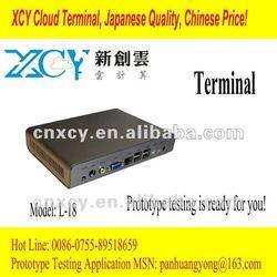 1920*1080 widescreen cheap cloud virtual desktop pc Mini itx case GE1200 without fanCore 1.6G XCY L-18