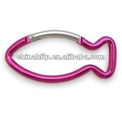 fish shaped aluminum carabiner
