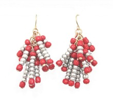 2012 new design fashion jewelry of beads cluster earrings
