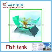 New fashion office Table Acrylic Fish Tank Aquarium