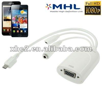 Vga Adapter Cable Mhl Micro Usb to Vga Adapter