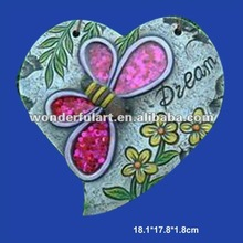 hanging heart butterfly cement animal garden decoration