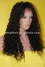 In stock wholesale cheap human man curly afro full lace wigs for black women