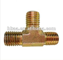 yellow zinc plated male T type connector