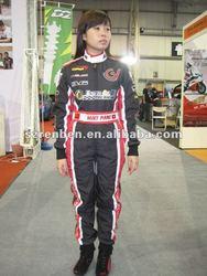2 layers fireproof kids racing suit