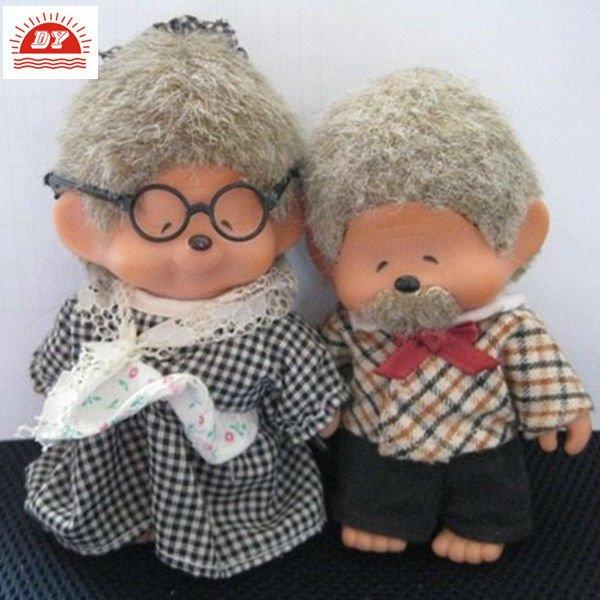 plastica bella bambola monchichi per la decorazione domestica
