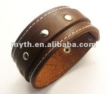 più nuovi e braccialetti popolari della cinghia di cuoio con le viti prigioniere (SLL5436)