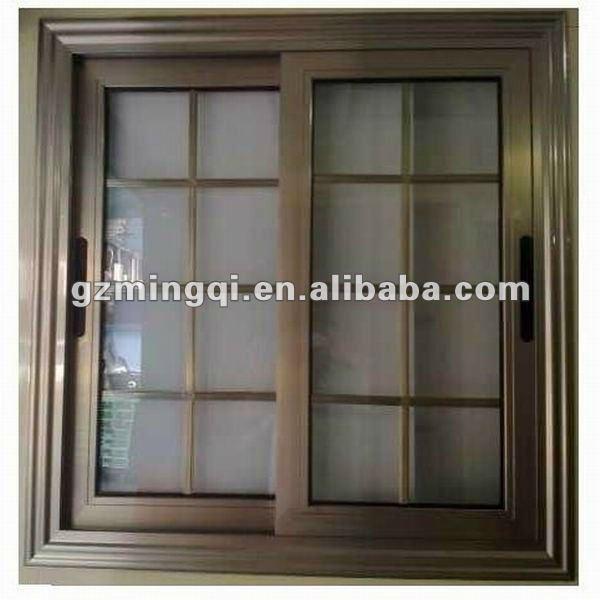 De color bronce de ventanas correderas ventanas for Colores de perfiles de aluminio