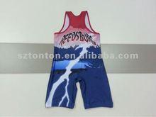 2012 newest male/female lycra wrestling wear