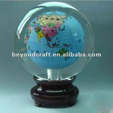 Inner paint crystal world map global