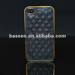top quality chrome for iphone 4S leather case