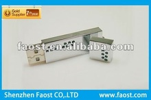 2012 high quality crystal metal with logo usb flash stick 32gb