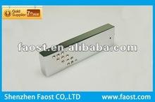 2012 high quality crystal metal with logo push usb flash drive