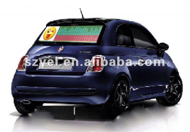 Good twinkle EL equalizer car sticker 2012 on line saling