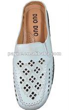 2012 New design white women flat shoes