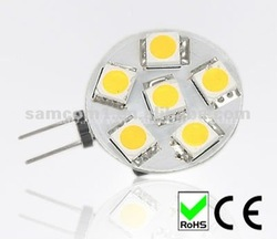 High bright G4 led 1.2W 5050 smd auto light