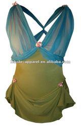 Rose Garden fluffy skirt tutu skirt with V-neckline