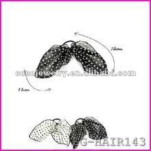 Bowknot hairpin hair net top clip butterfly big hair ornament