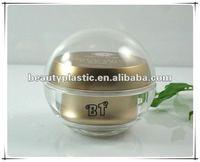 15g clear plastic double wall ball pot acrylic jar