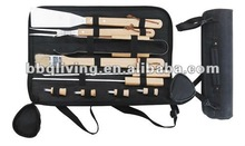 Hot sell 10 pcs cheap BBQ tools with carry bag