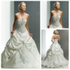 Ball Gown Sweetheart Design Corset Silver Embroidery Wedding Dresses For Brides