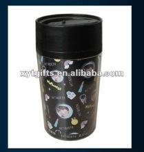 plastic advertising mug with insert paper 250ML